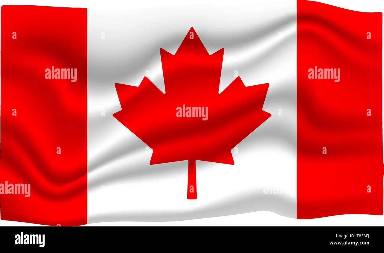 Canada Flag Icon  National Flag Banner  Cartoon Vector