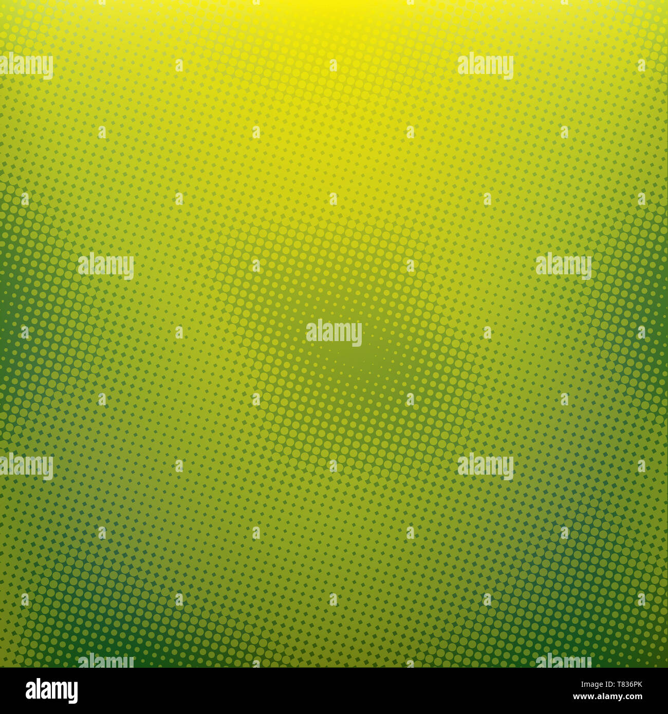 Green Color Blurred Background With Halftone Effect Overlay