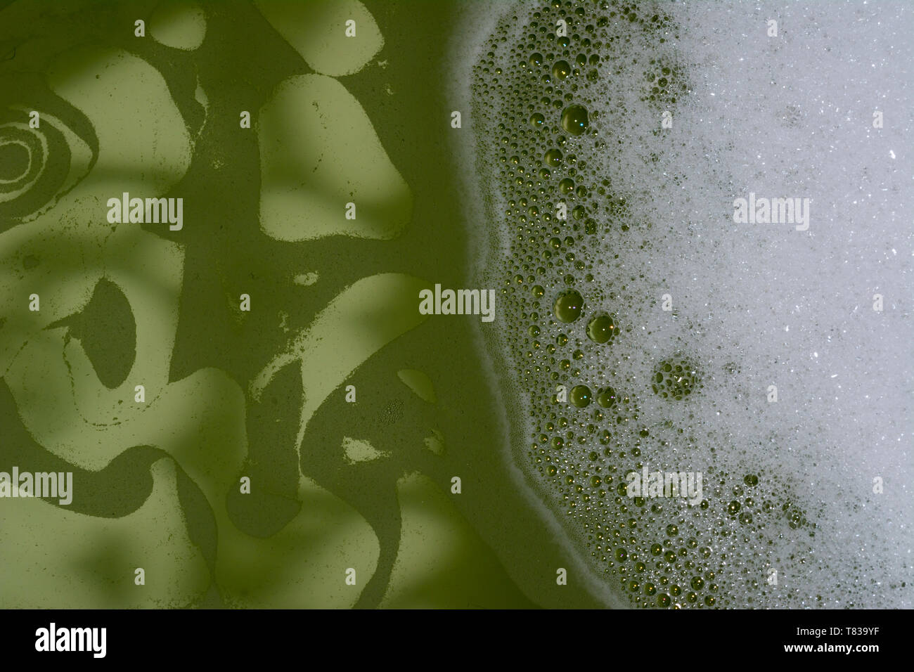Liquid abstract background in motion background use - Stock Image