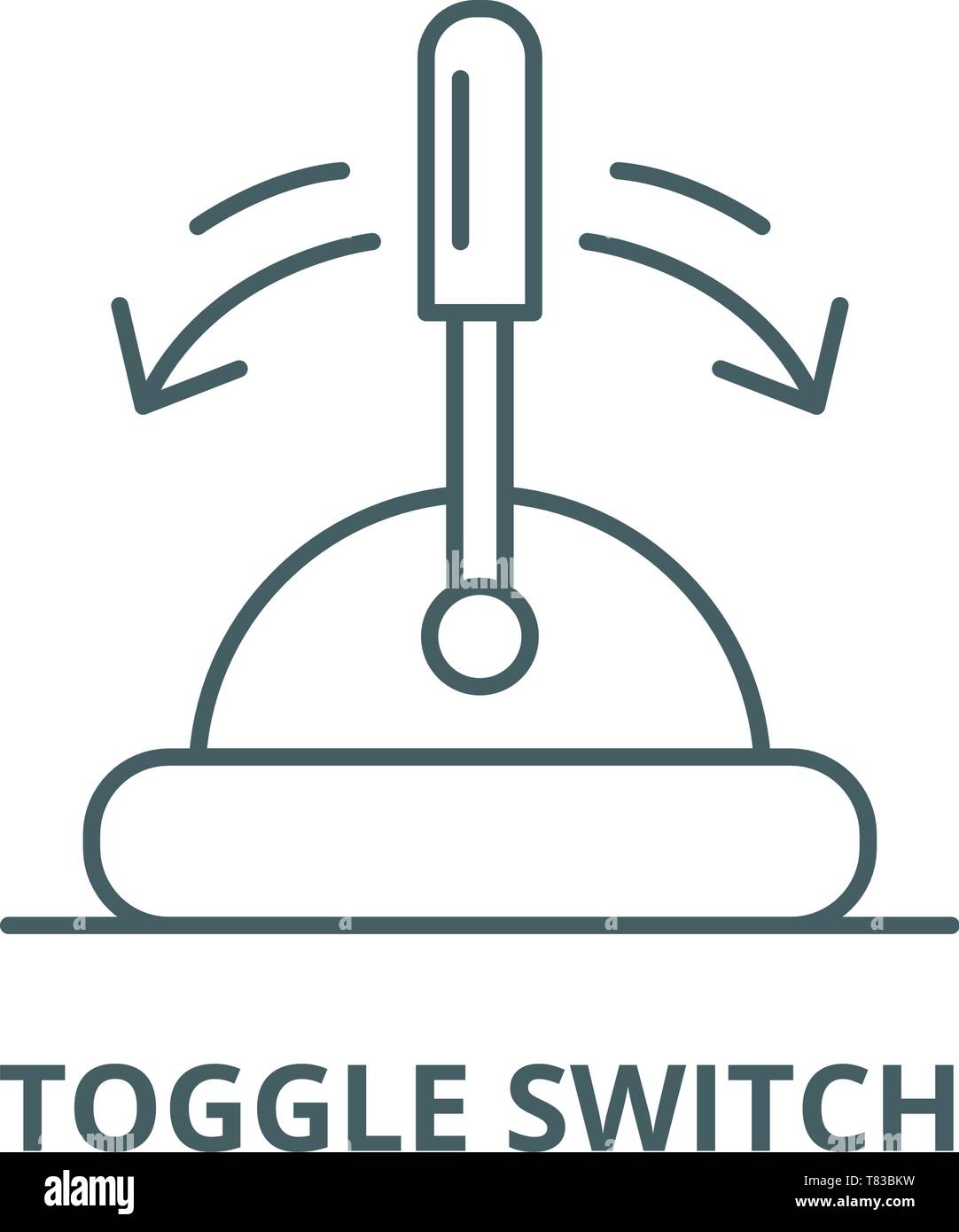 Toggle switch vector line icon, linear concept, outline sign, symbol - Stock Vector