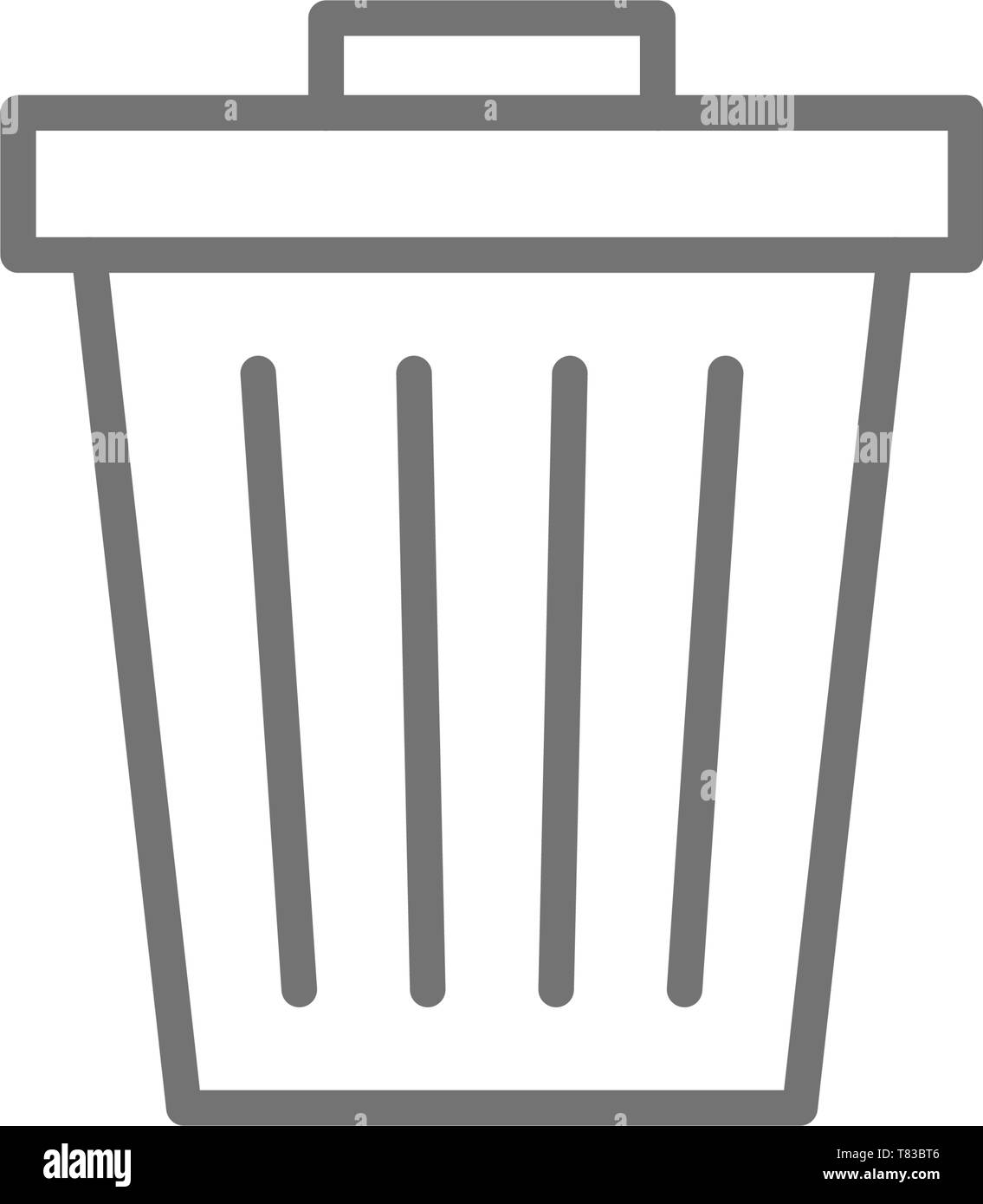 Trash can, garbage, waste line icon. - Stock Vector