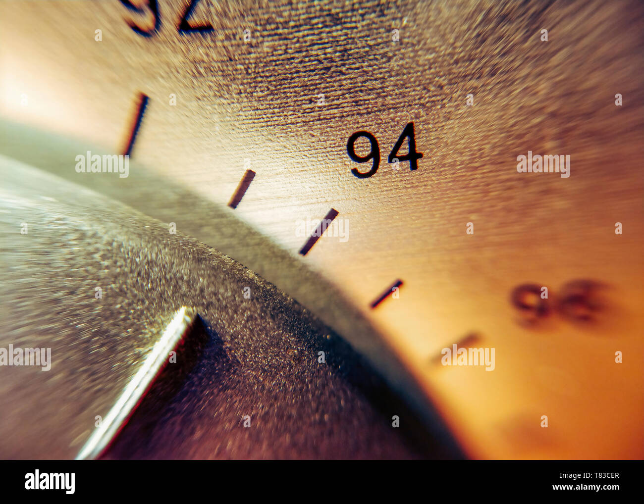 Detail of the scale of an analog radio Stock Photo