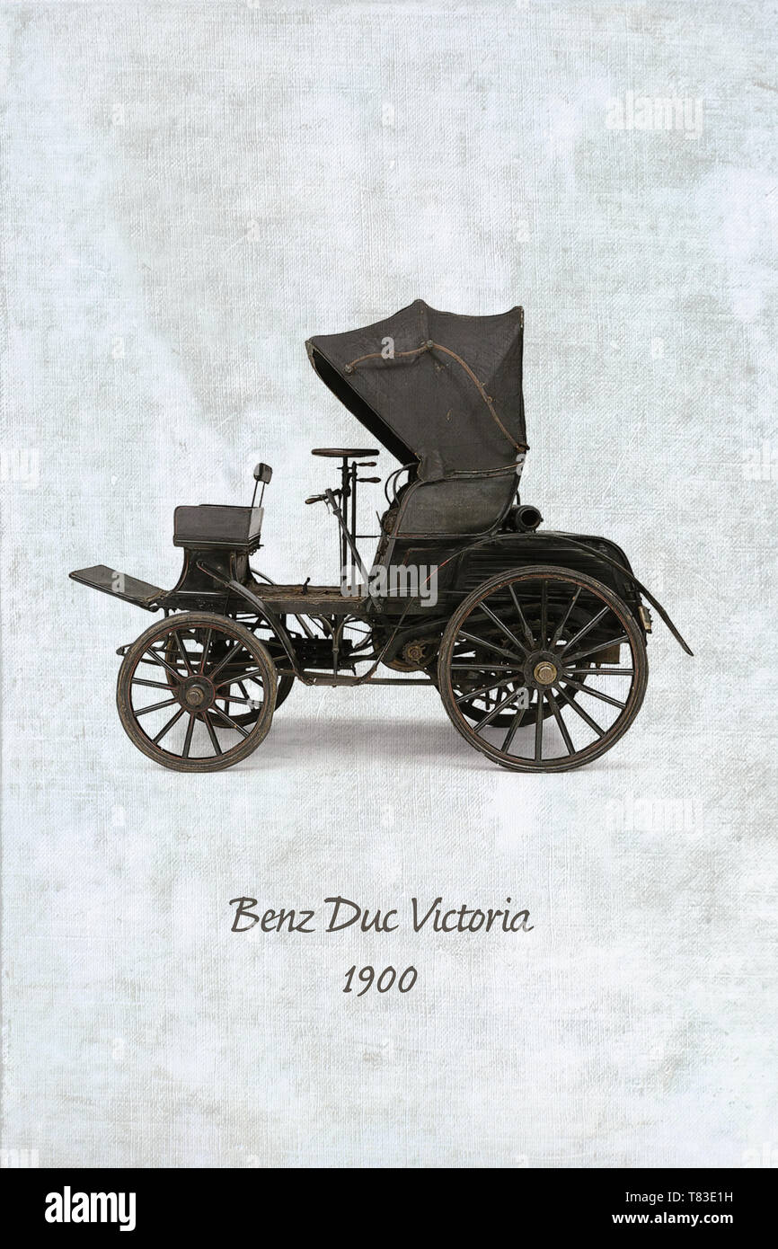 Benz Duc Victoria original car from 1900 Stock Photo