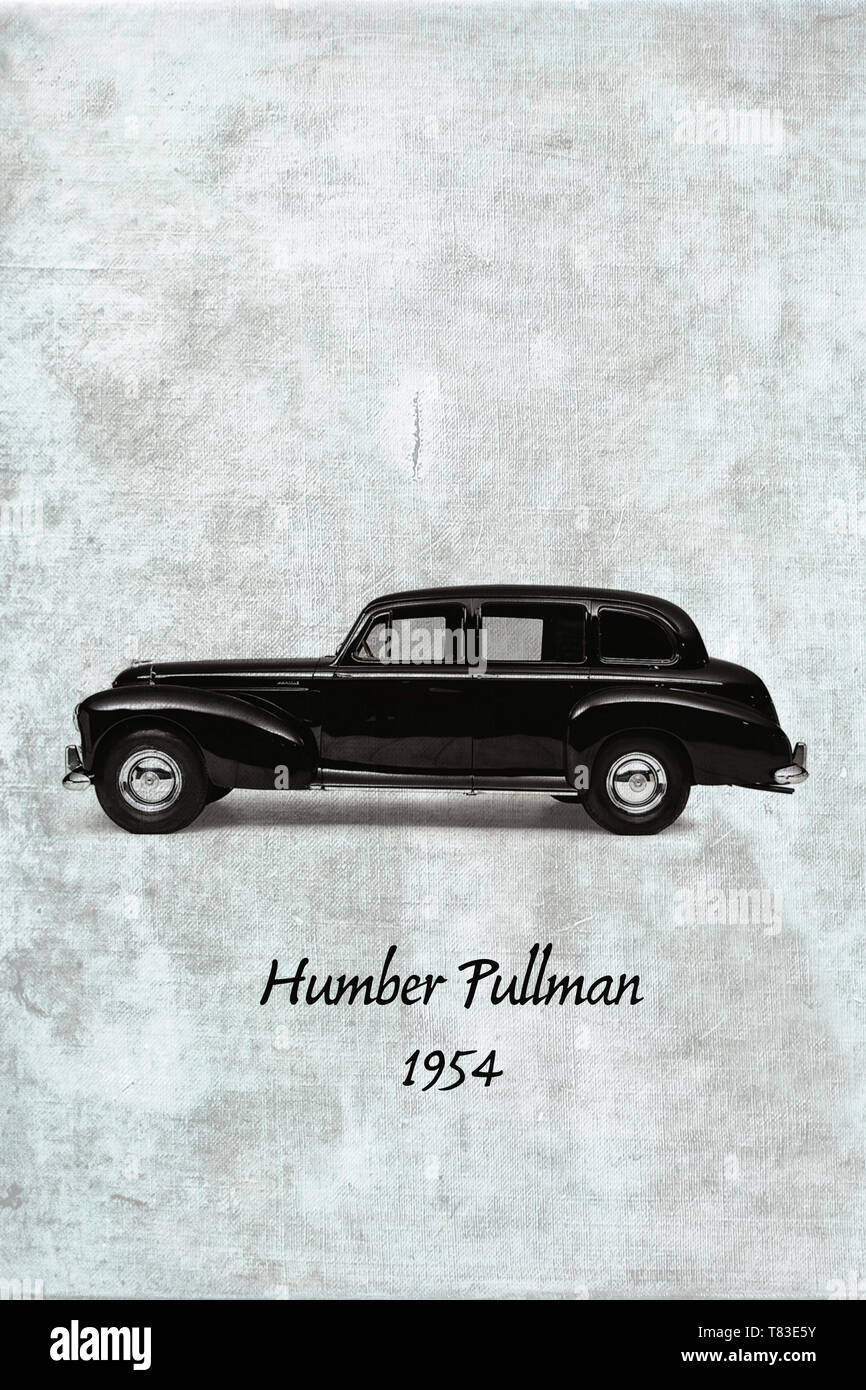 Black Humber Pullman from 1954 also known as 'Old Faithfull' Stock Photo