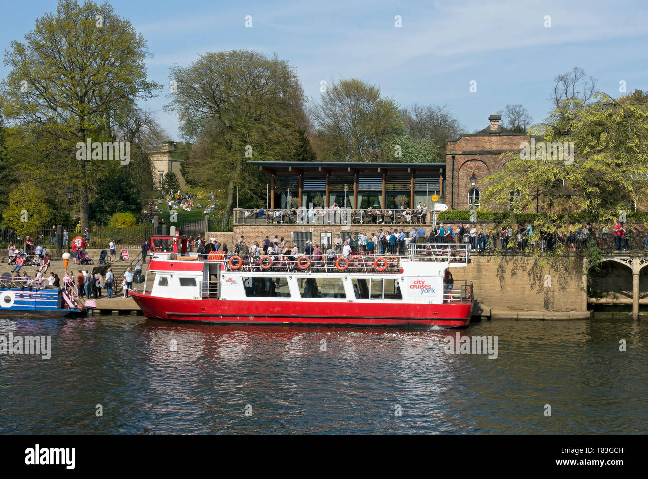 The Star Inn the City Restaurant, and Riverside Boat Cruises York North Yorkshire England UK United Kingdom GB Great Britain Stock Photo