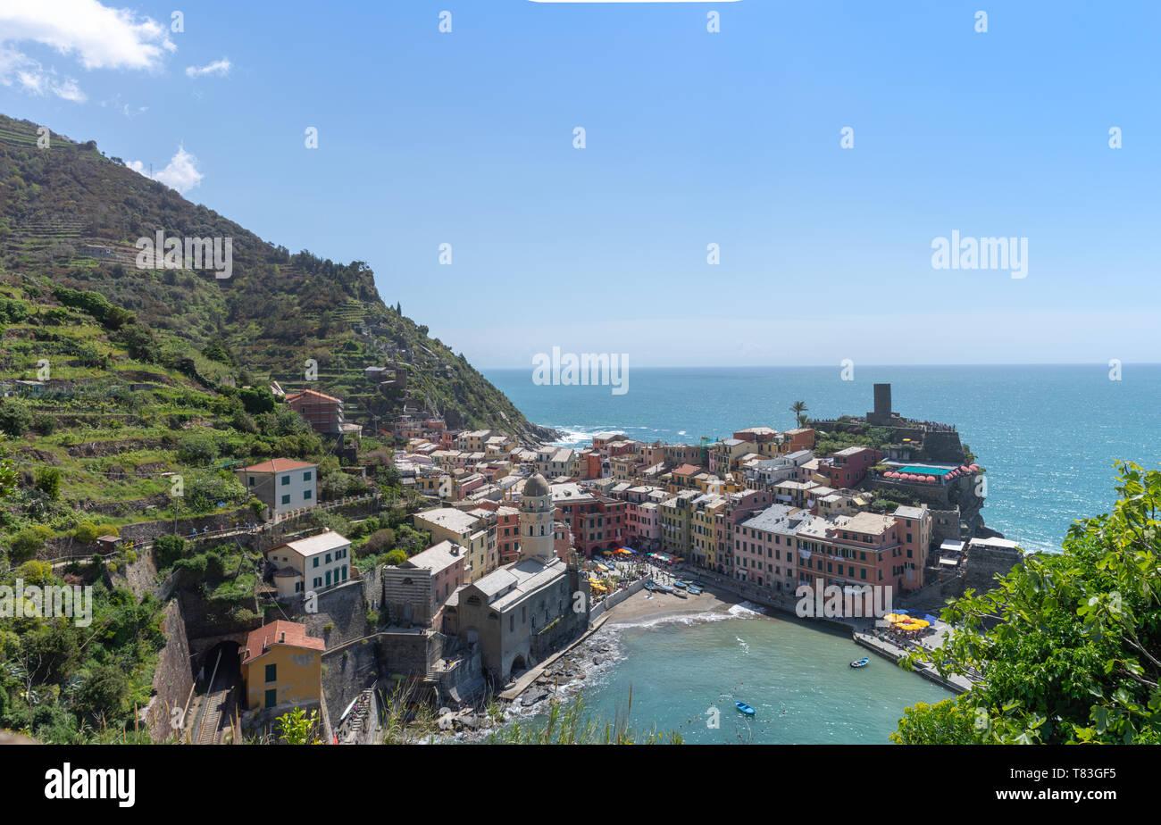 Ansicht von Vernazza - Stock Image