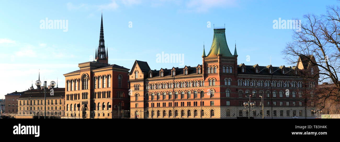 Buildings in the Riddarholmen area of Stockholm City, Sweden, Europe - Stock Image