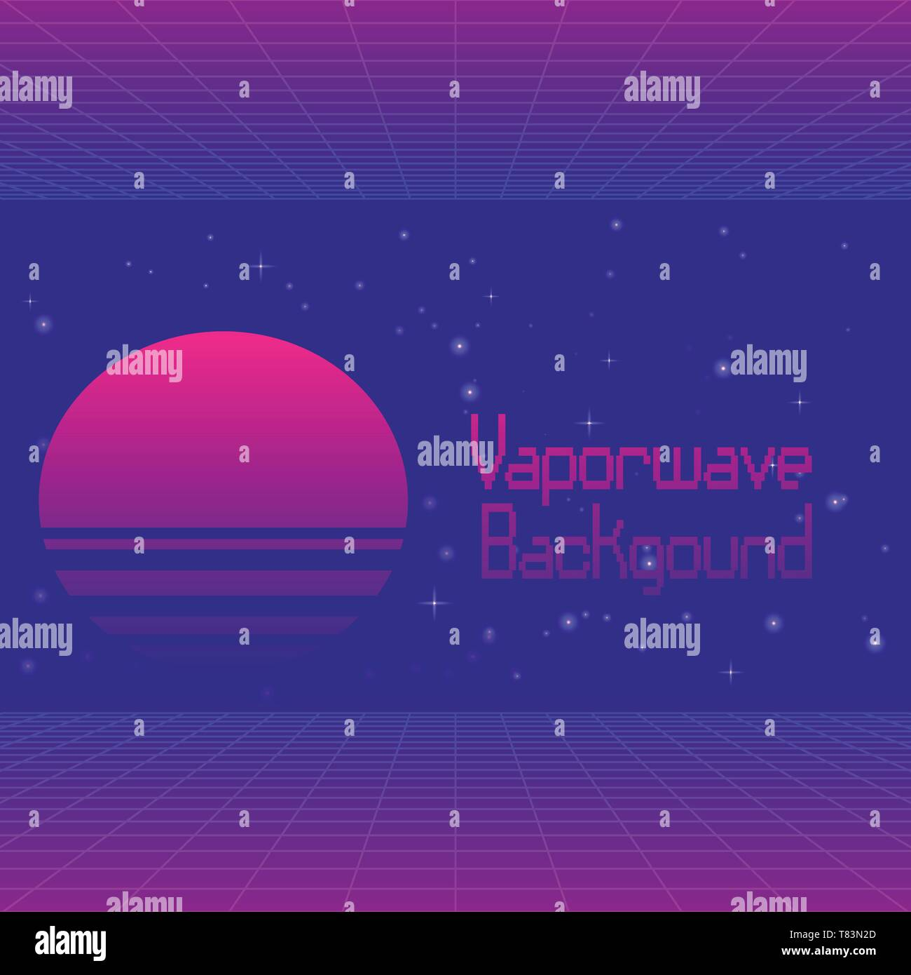 Futuristic Background With Digital Landscape Laser Grid And Text Vaporwave In English And Japanese Translation Trendy Neon Colors Retrowave Stock Vector Image Art Alamy