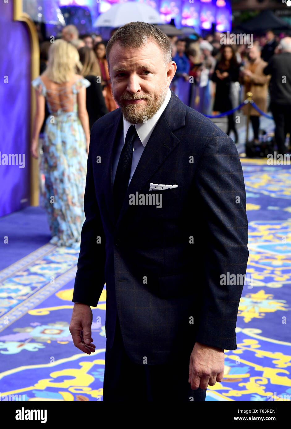Guy Ritchie attending the Aladdin European Premiere held at the Odeon Luxe Leicester Square, London. - Stock Image