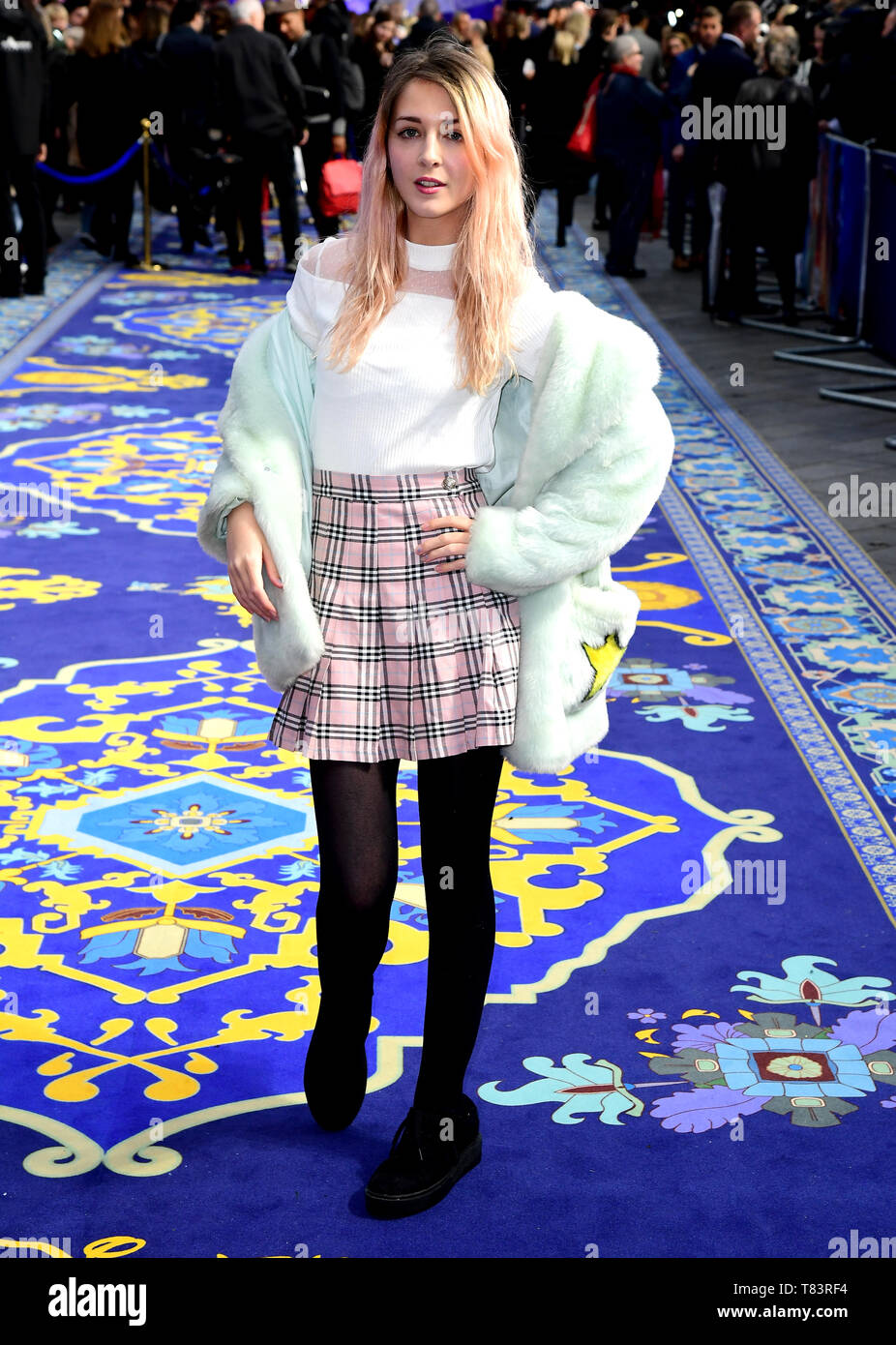 Connie Glynn attending the Aladdin European Premiere held at the Odeon Luxe Leicester Square, London. - Stock Image