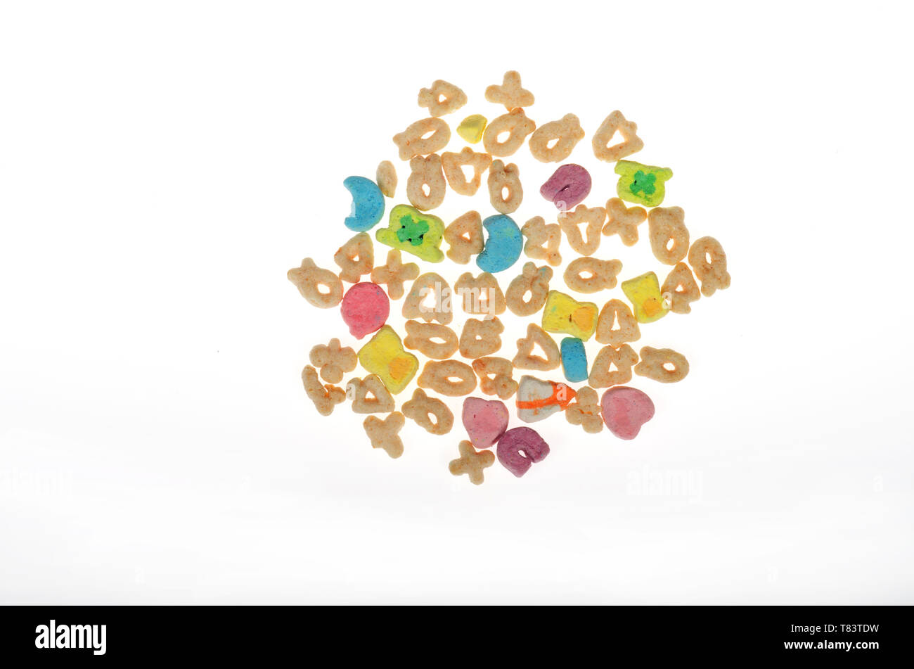 Lucky Charms cereal from General Mills on white - Stock Image