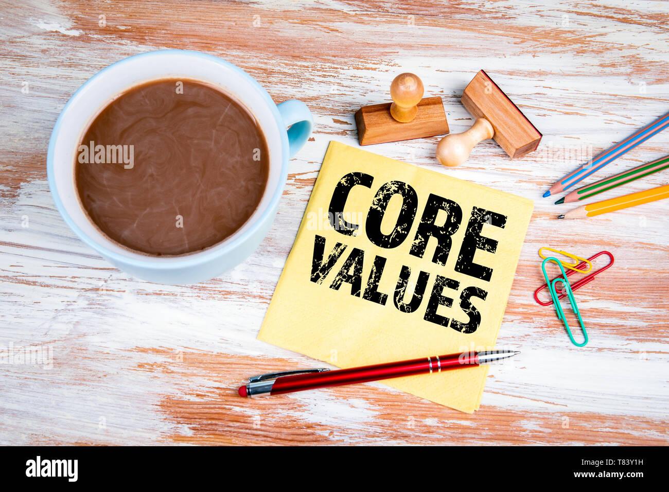CORE VALUES concept - Stock Image