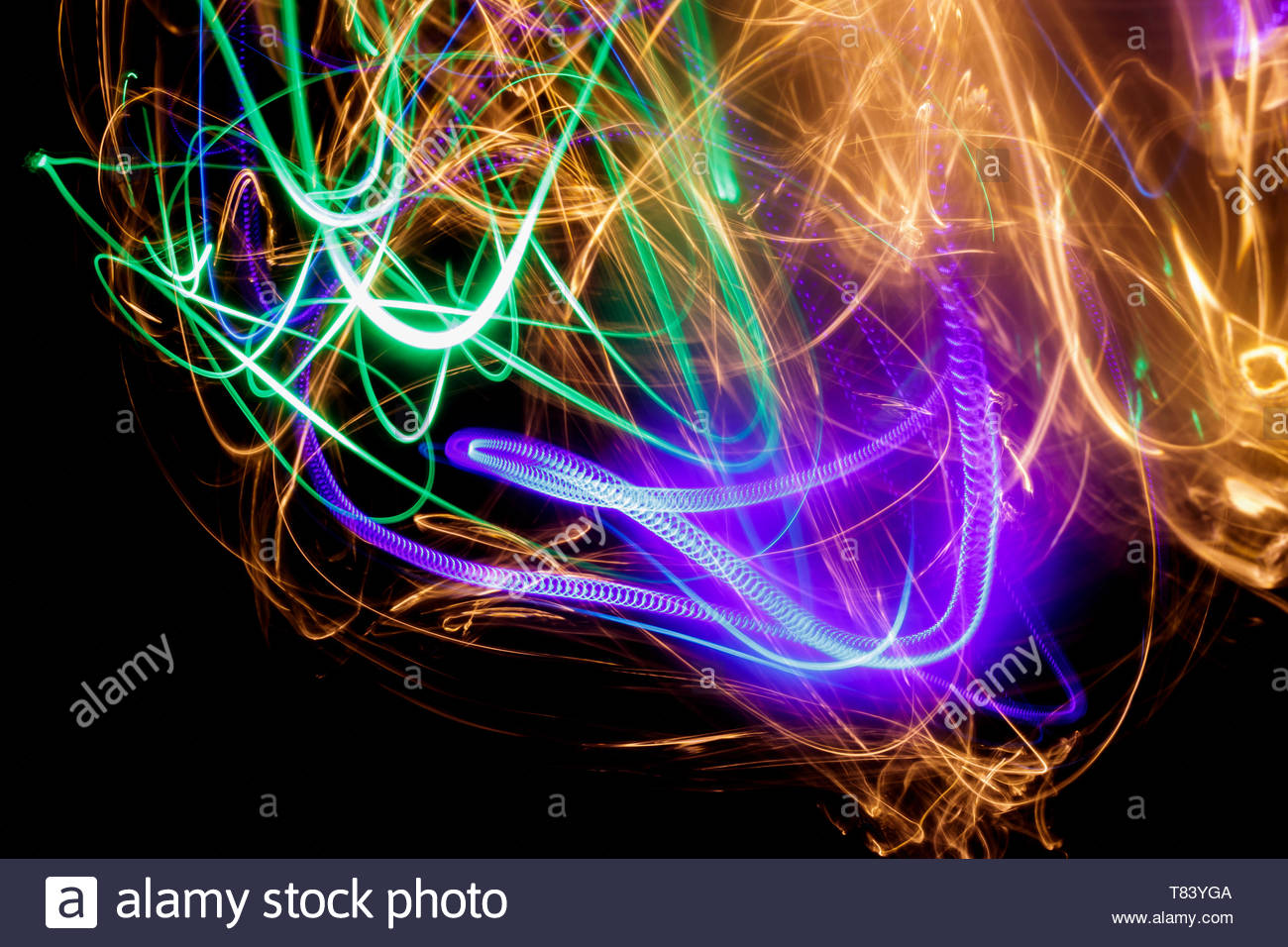Abstract Light Effect Background - Stock Image