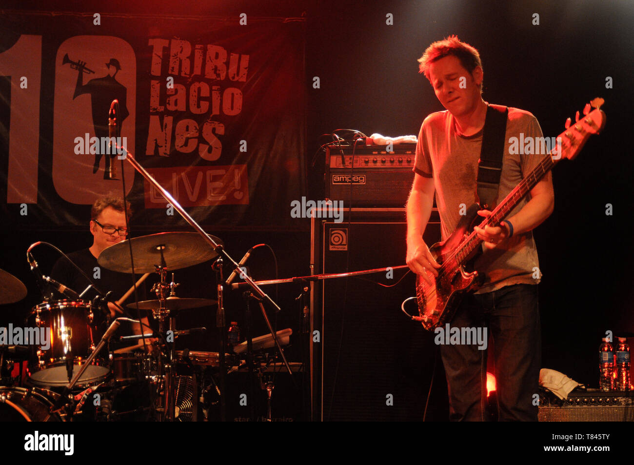 Robert Mercurio (bass) and Stanton Moore (drums), from Galactic - Stock Image