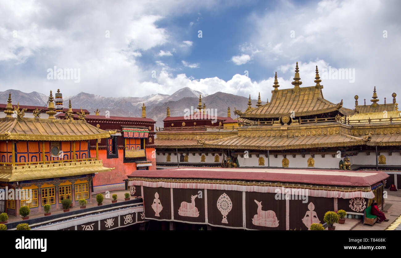 The Jokhang Temple in Lhasa, Tibet - Stock Image