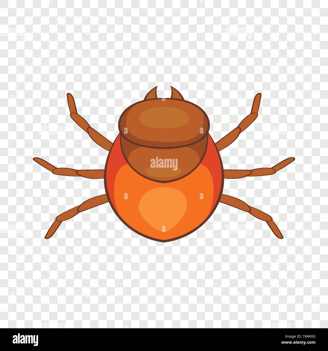 Tick icon, cartoon style - Stock Image