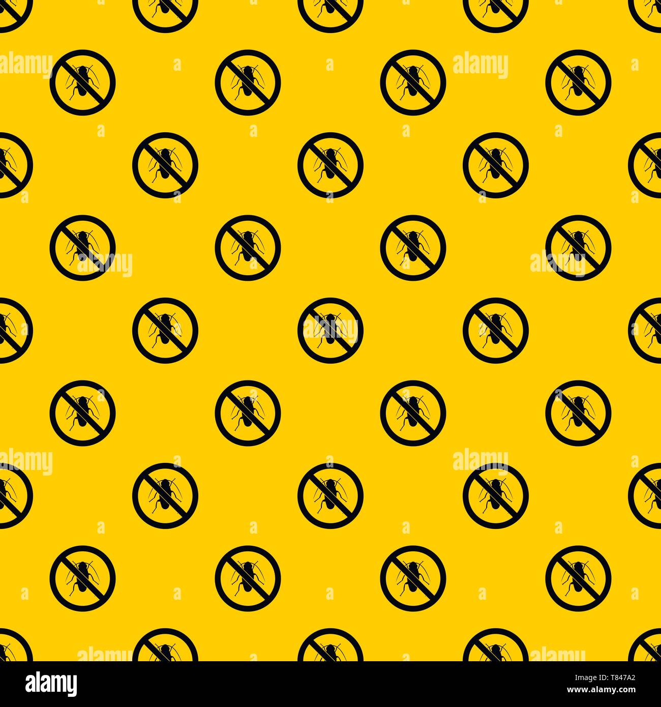 No cockroach sign pattern vector - Stock Image