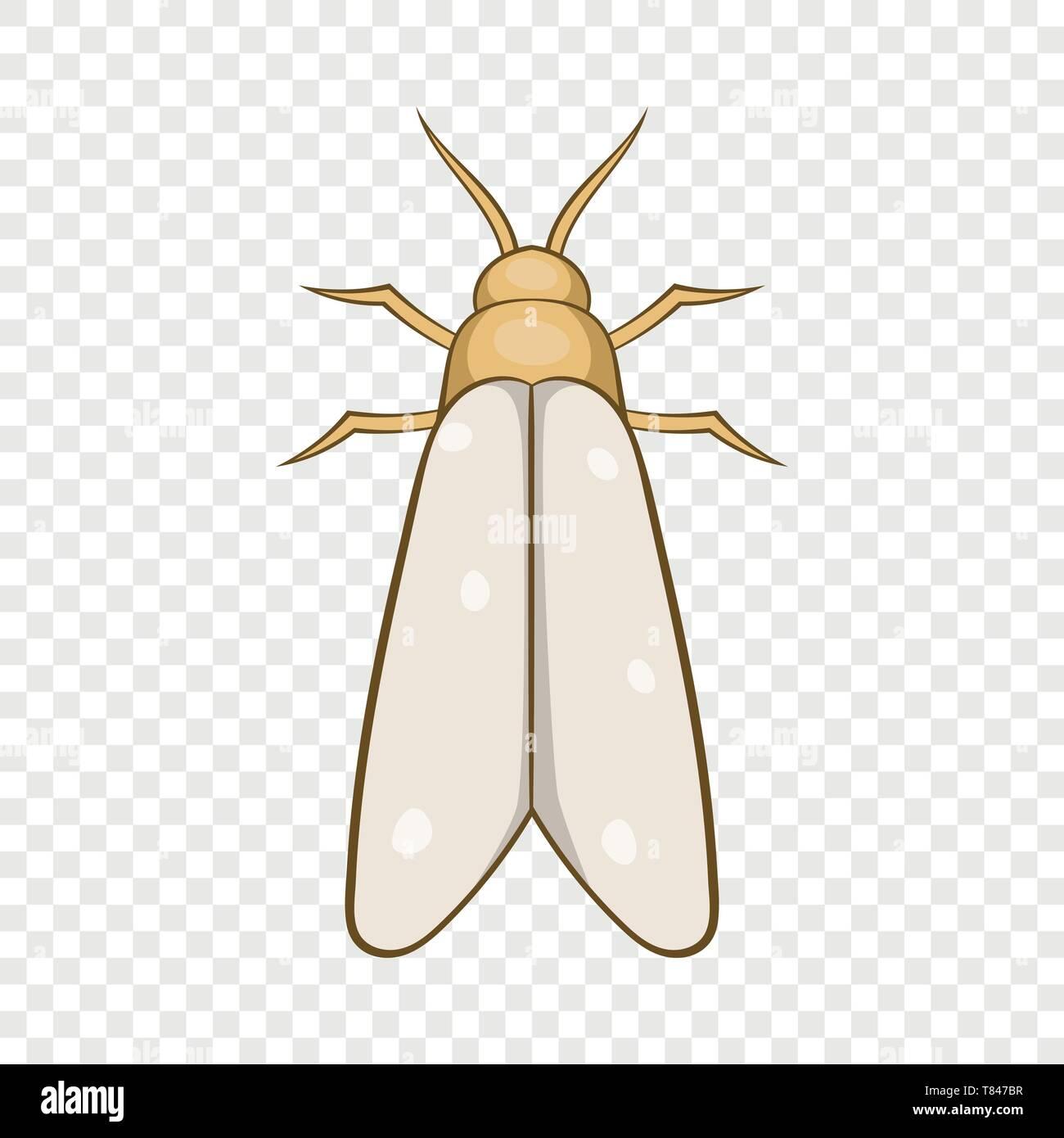 Moth icon, cartoon style - Stock Image