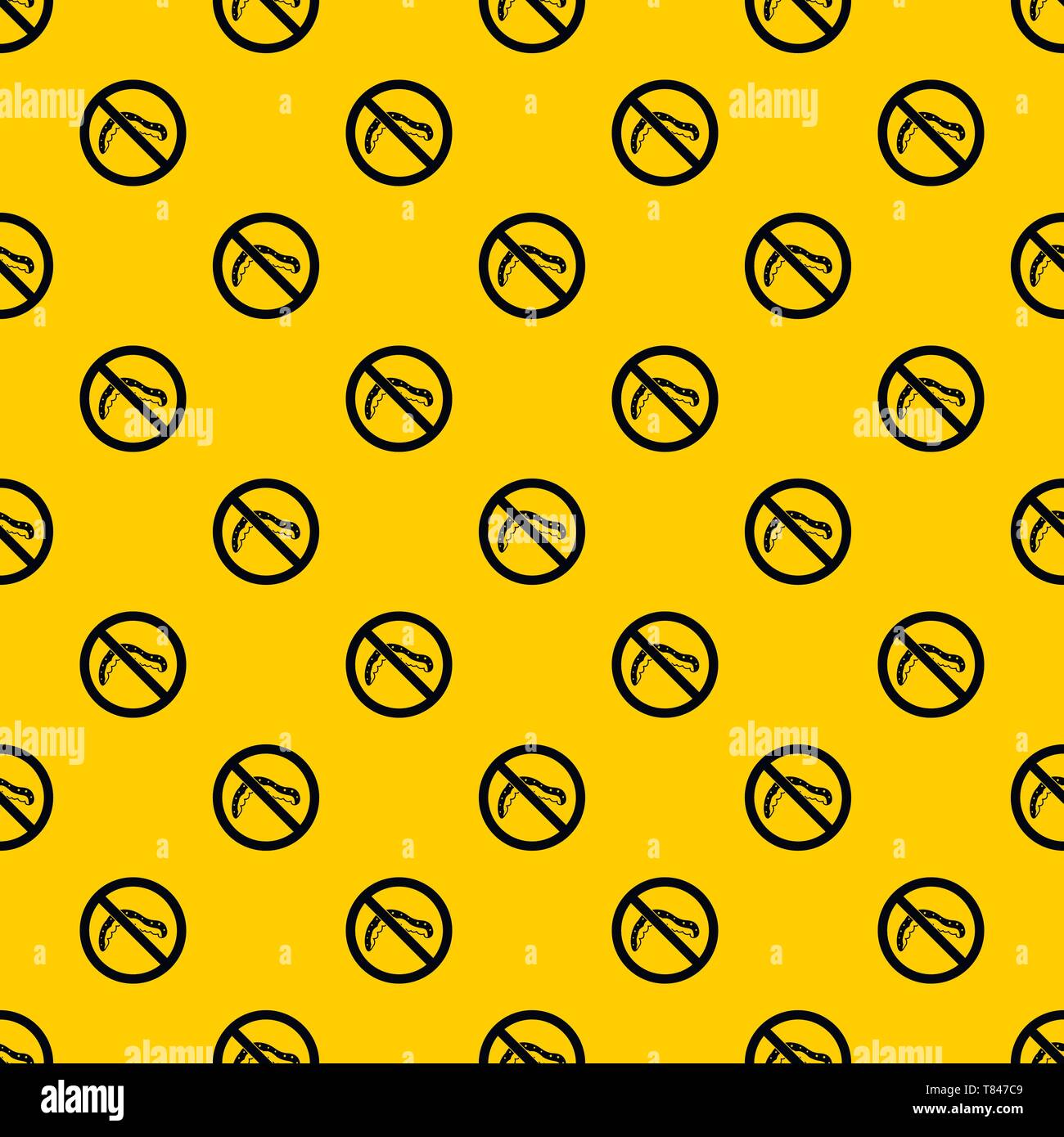 No caterpillar sign pattern vector - Stock Image