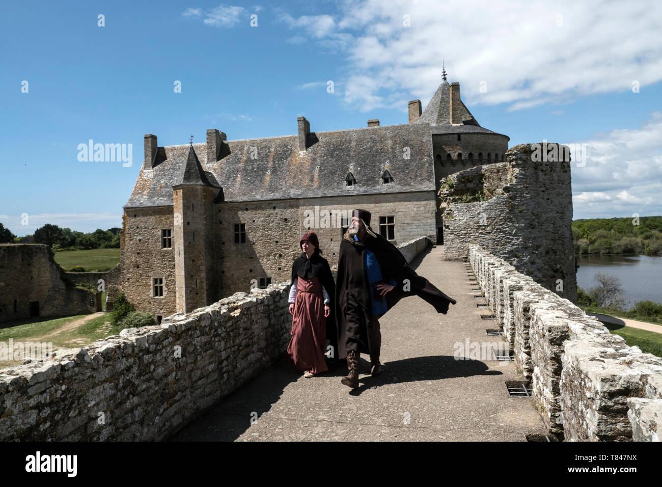 château de Suscinio, Sarzeau, Moyen Âge, Morbihan, Bretagne, Golfe du Morbihan, Stock Photo