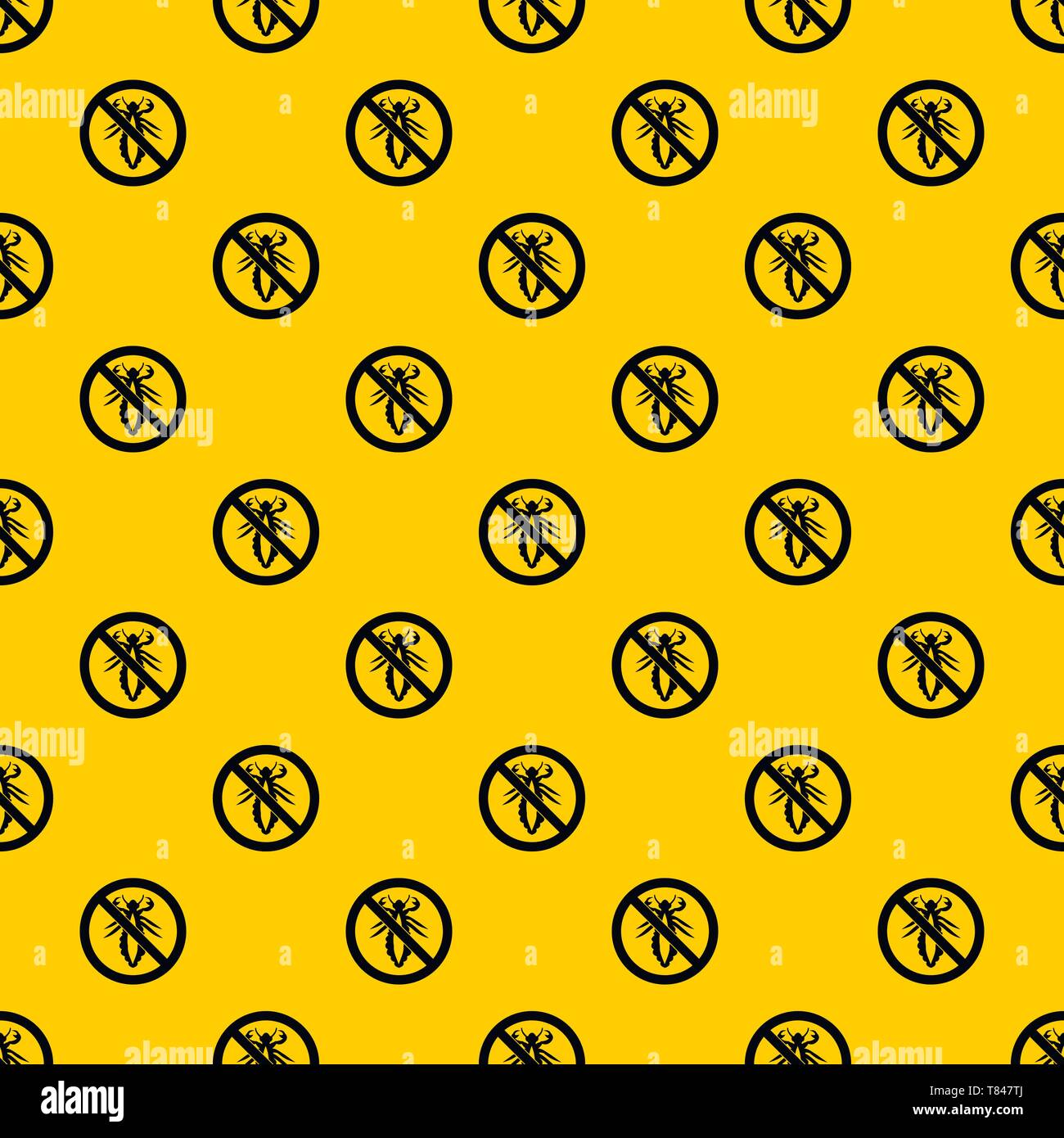 No louse sign pattern vector - Stock Image