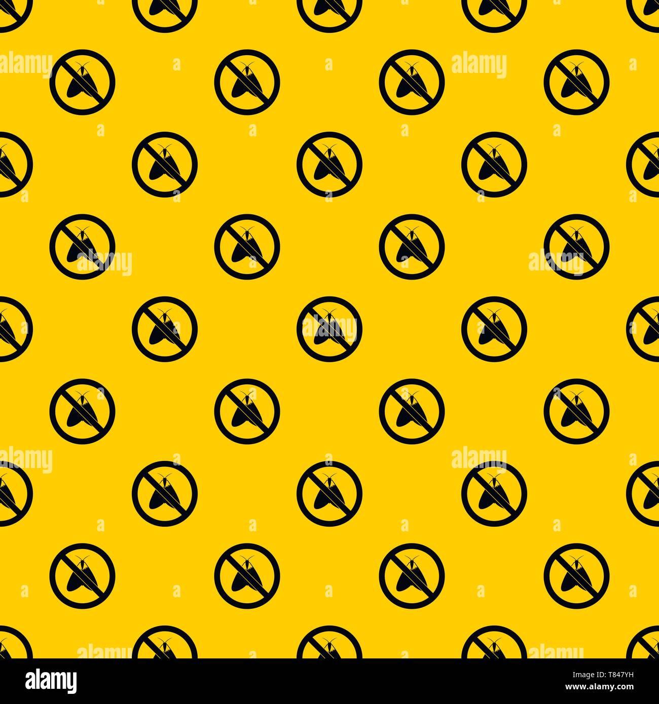 No moth sign pattern vector - Stock Image