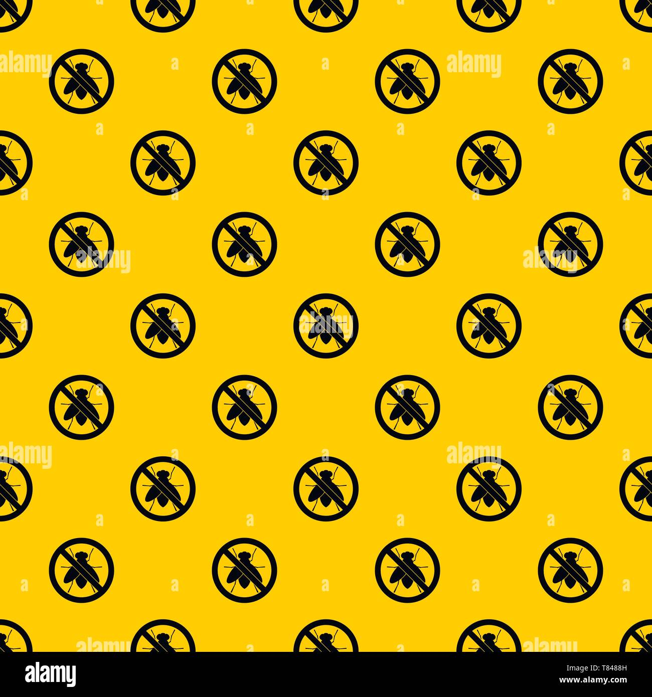 No fly sign pattern vector - Stock Image