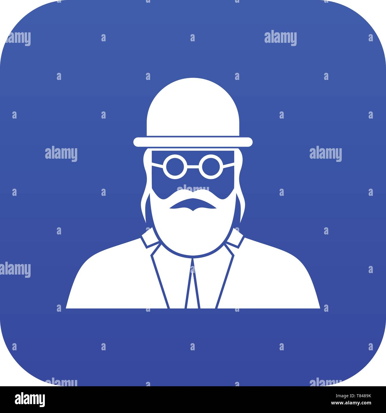 Orthodox jew icon digital blue - Stock Vector