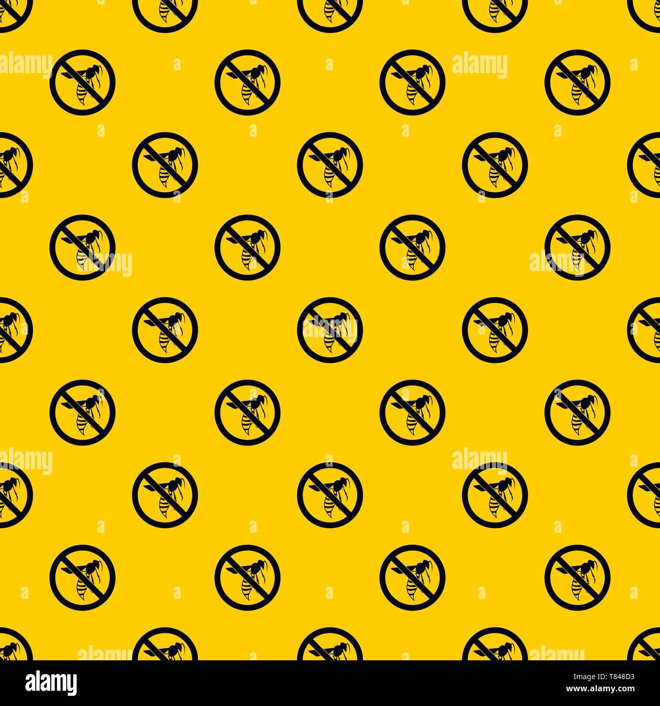 No wasp sign pattern vector - Stock Image