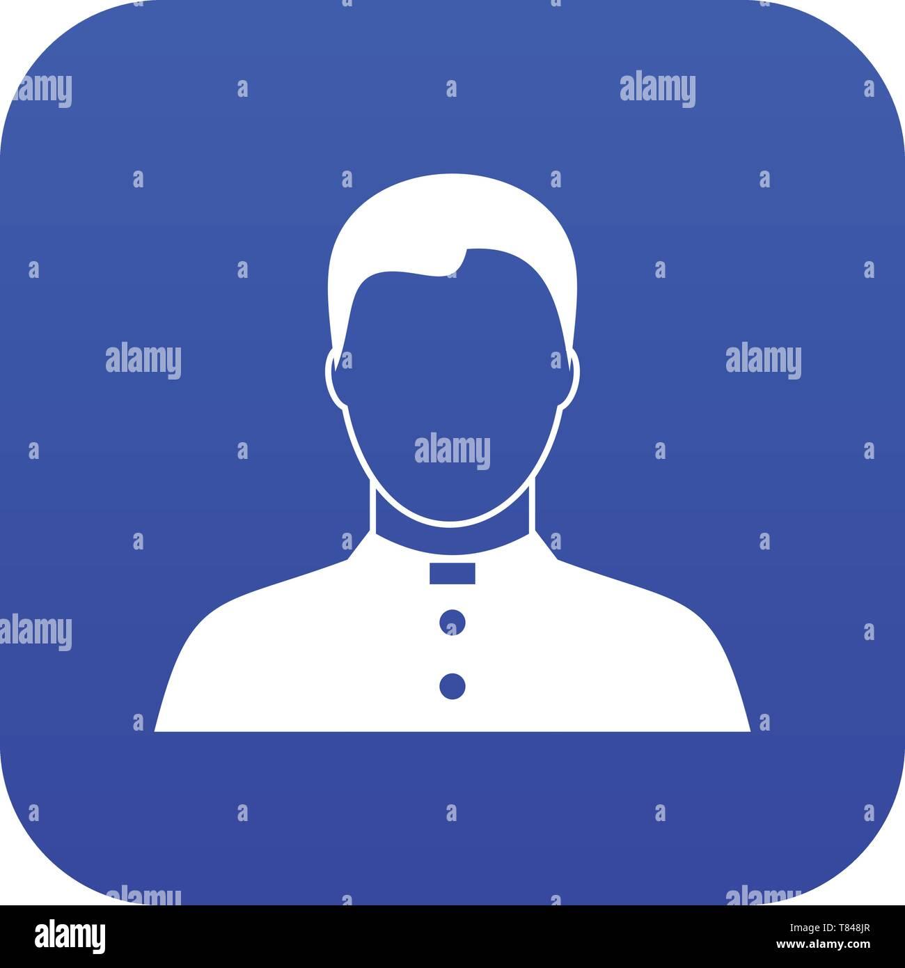 Pastor icon digital blue - Stock Vector