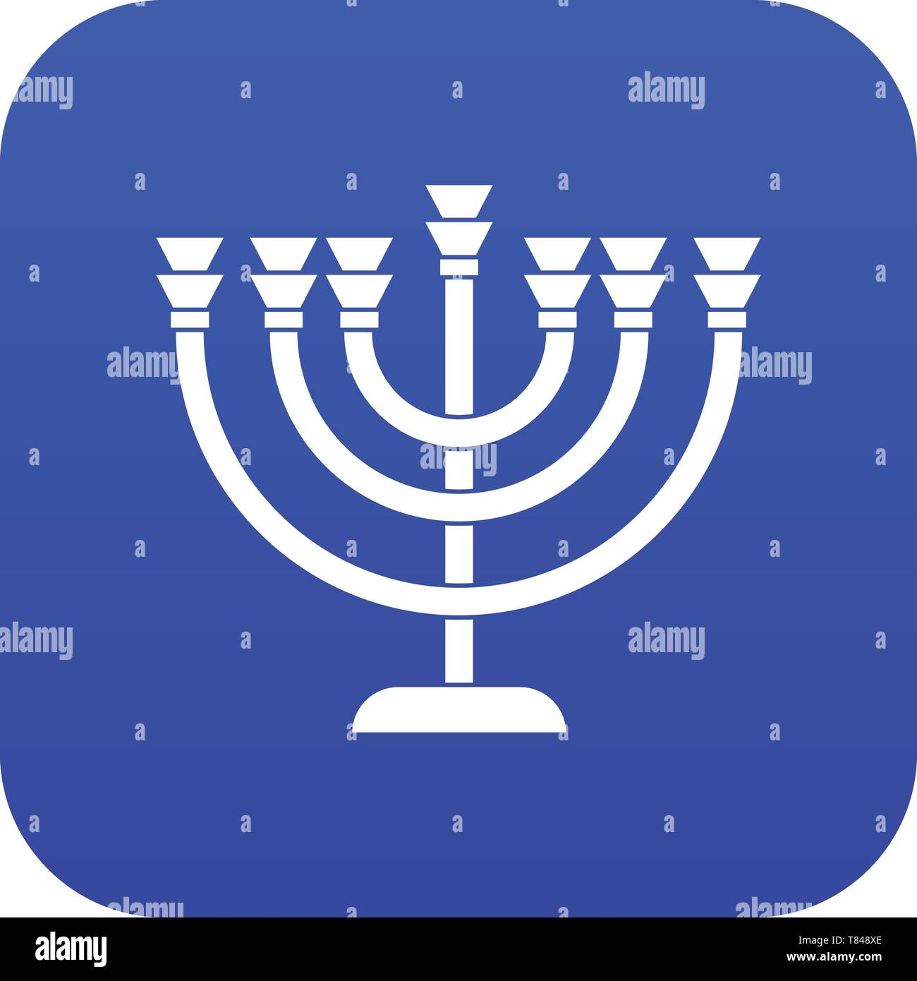 Menorah icon digital blue - Stock Vector