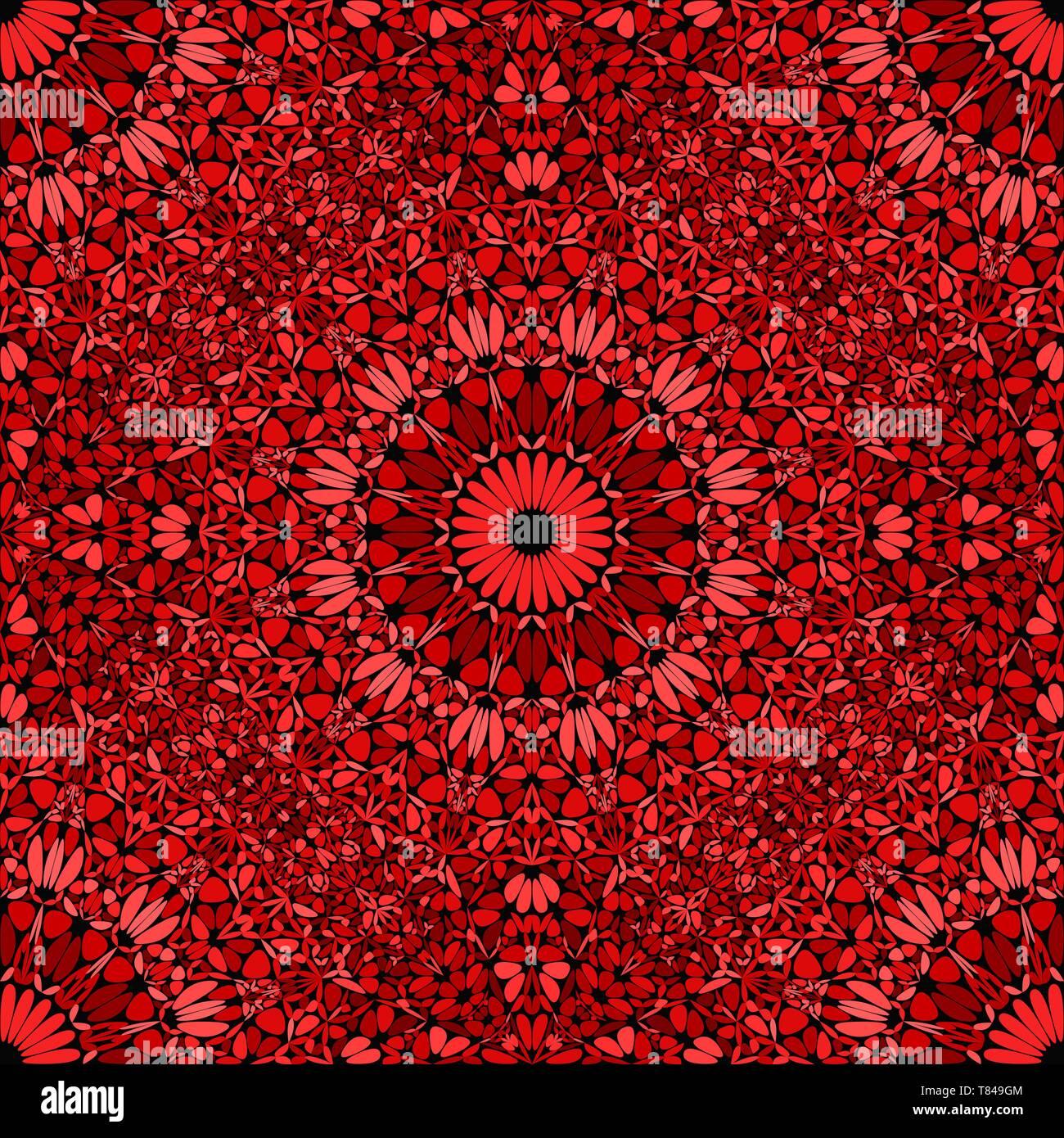 Oriental seamless flower mandala ornament pattern background art - Stock Vector