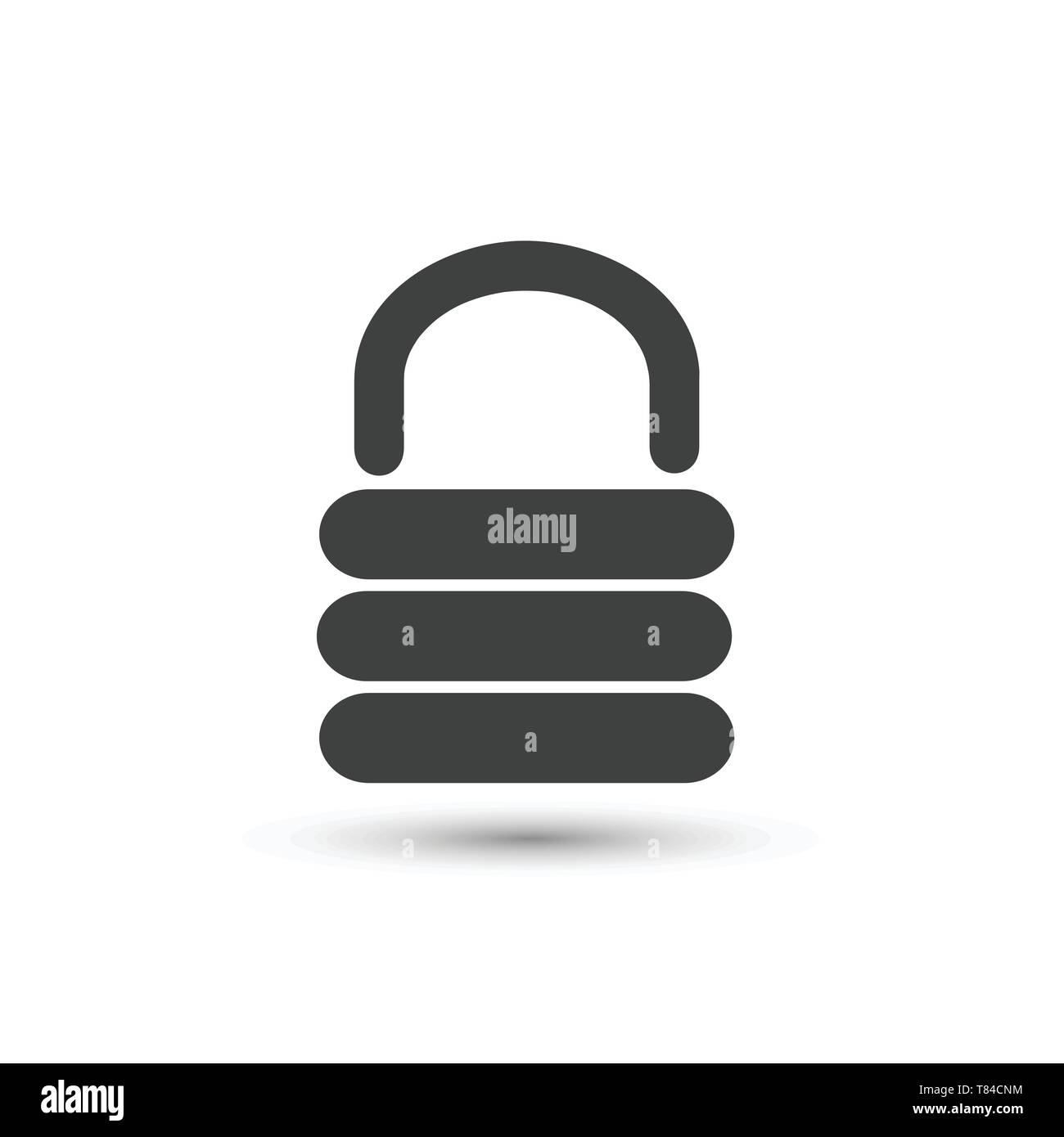 Vector Lock icon on the white background - Stock Vector