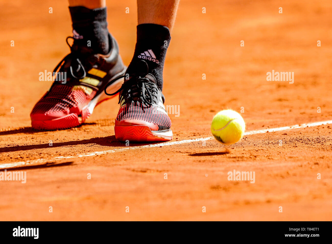 Caja Magica Madrid Spain 10th May 2019 Mutua Madrid Open Day 7 Dominic Thiem Aut Detail Of His Shoes During Service Credit Action Plus Sports Alamy Live News Stock Photo Alamy