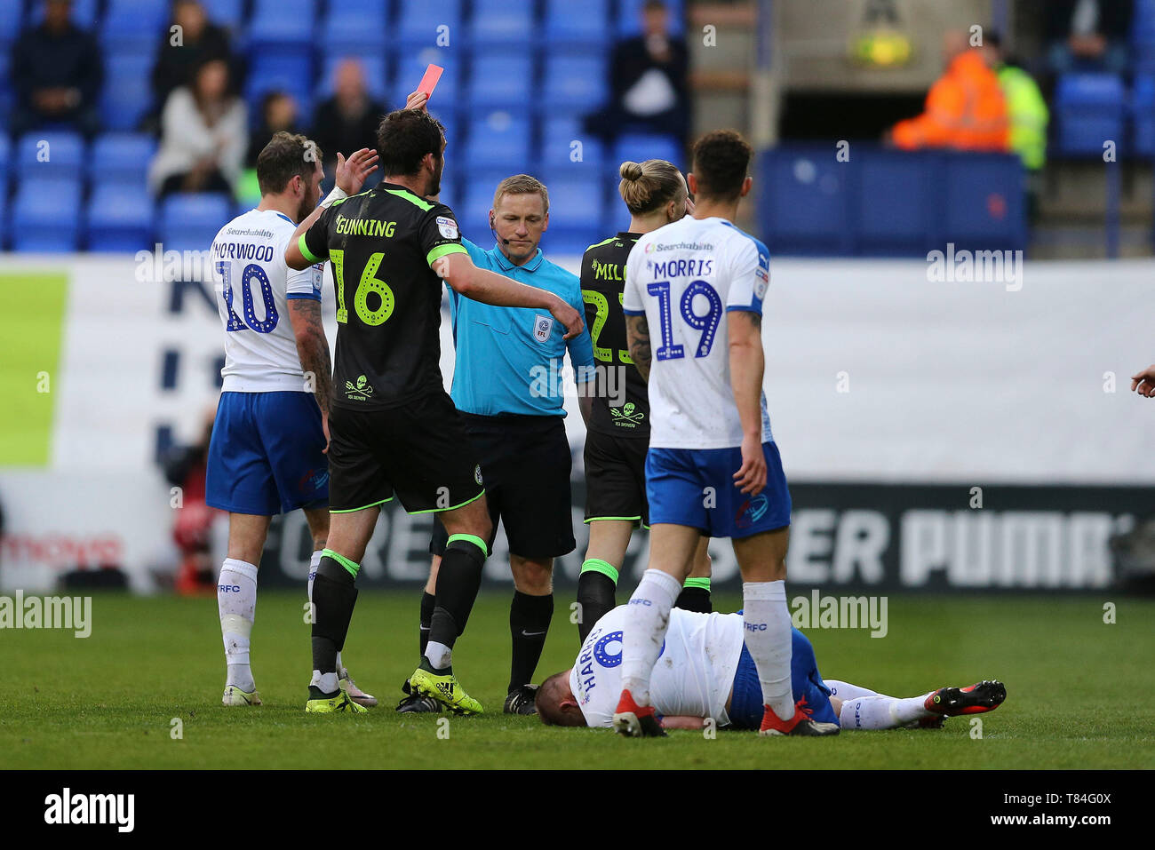 player sent off betting