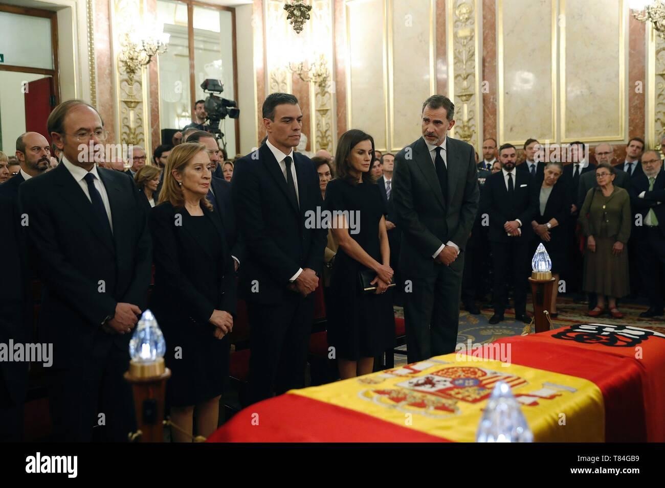 Madrid Spain 10th May 2019 Spain S King Felipe Vi 5 L Queen