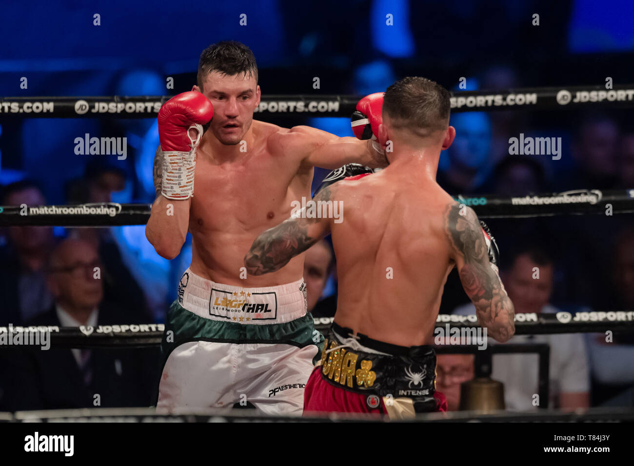 Nottingham, UK. 10th May, 2019. Leigh Wood vs Ryan Doyle - Commonwealth Featherweight Championship during Matchroomboxing presents JD NXTGEN Fight Night at Motorpoint Arena on Friday, 10 May 2019. Nottingham England. Credit: Taka G Wu/Alamy Live News - Stock Image