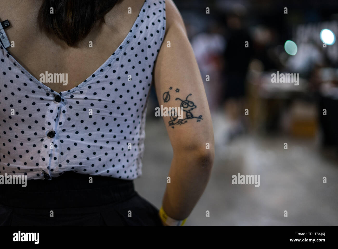 Athens, Attica, Greece. 10th June, 2019. An arm of a woman seen with a tattoo during the event.The Athens Tattoo Convention is a three day annual convention about tattoo and it takes place in Athens, Greece. It has been recognized as one of the best in Europe with visitors from all over the world who come exclusively for the Athens Tattoo Convention experience and also to meet some of the world's most respected tattoo artists. Credit: Nikos Pekiaridis/SOPA Images/ZUMA Wire/Alamy Live News - Stock Image