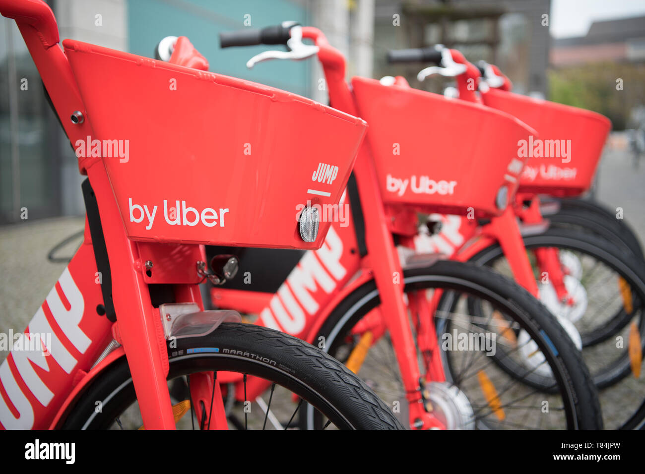 Berlin, Germany  10th May, 2019  Electric bicycles of the