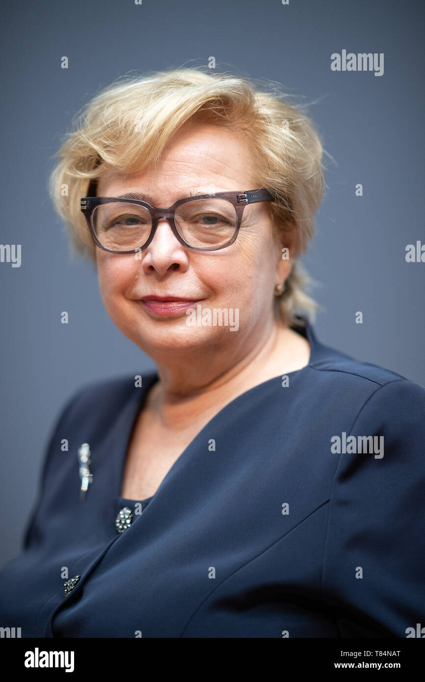 11 May 2019, Baden-Wuerttemberg, Stuttgart: Malgorzata Gersdorf, President of the Supreme Court in Poland, is standing at the Haus der Wirtschaft during the presentation of the Theodor Heuss Prize. She is the winner of the 2019 award. Photo: Sebastian Gollnow/dpa - Stock Image