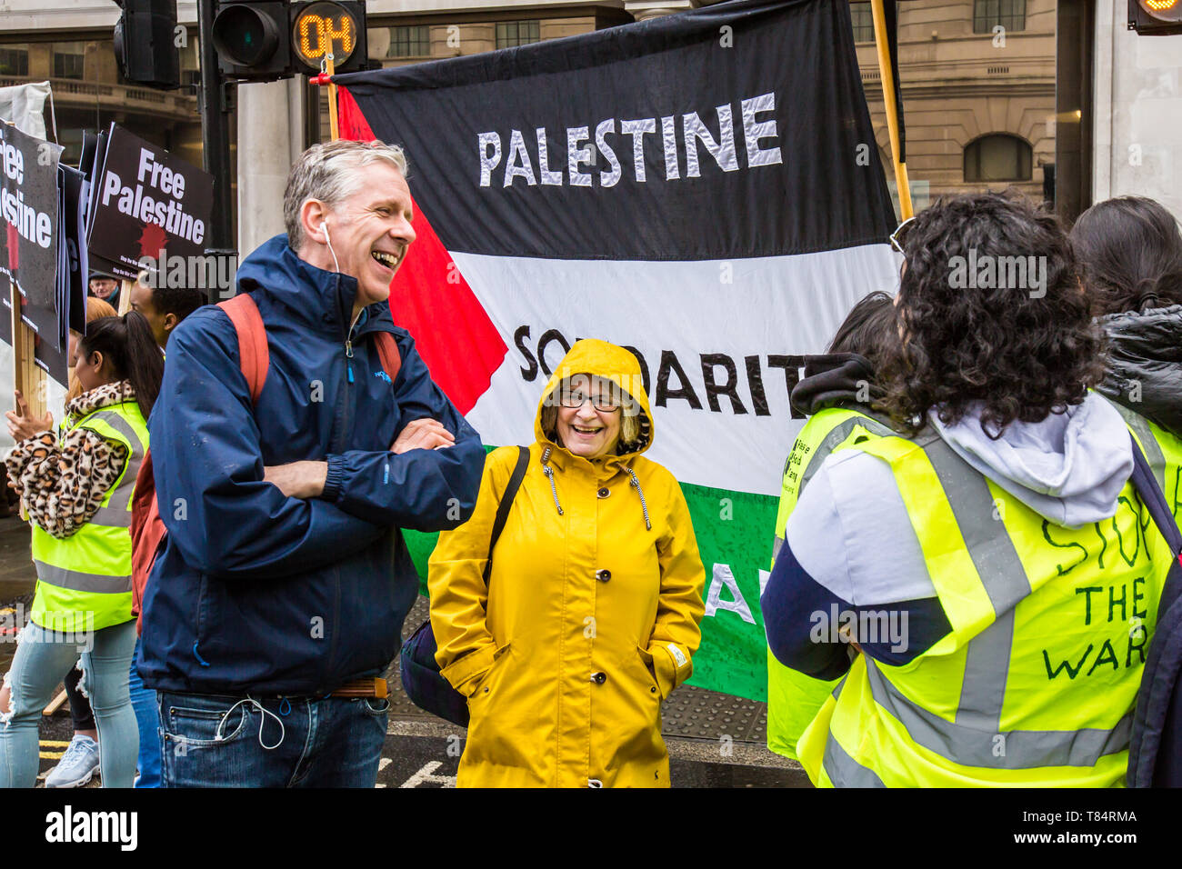 11 May, 2019. London,UK.  Thousands march for Palestine in central London demonstration organised by the Palestinian Solidarity Campaign. David Rowe/ Alamy Live News - Stock Image