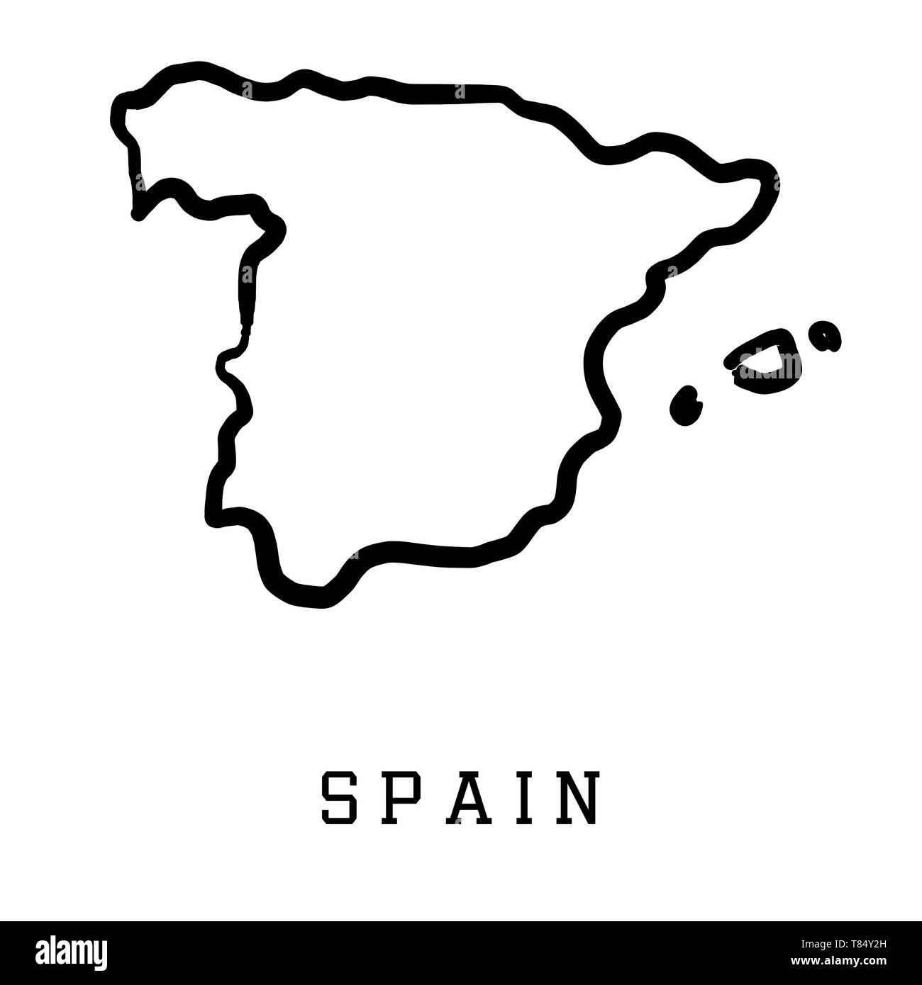 Picture of: Spain Map Outline Smooth Country Shape Map Vector Stock Vector Image Art Alamy