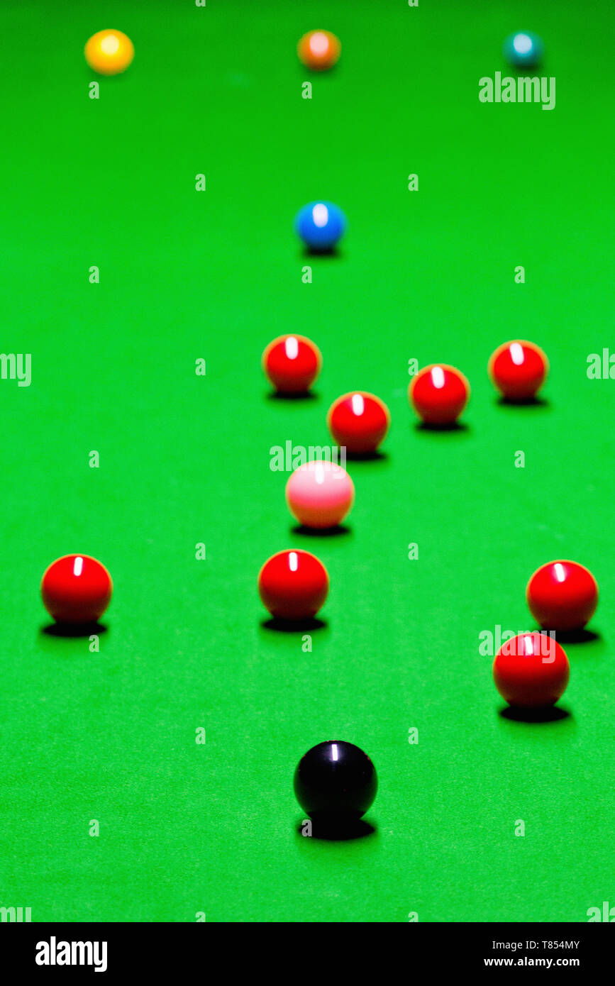 Snooker balls - Stock Image