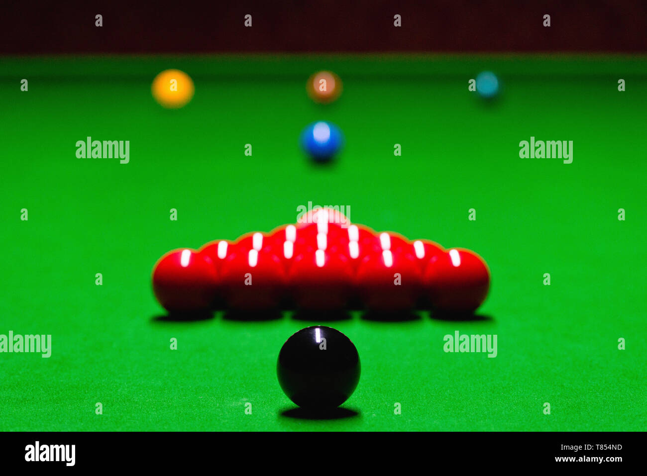 Snooker table setup - Stock Image