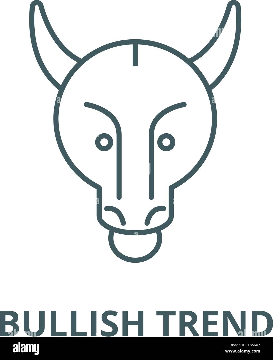 Bullish trend vector line icon, linear concept, outline sign, symbol - Stock Vector
