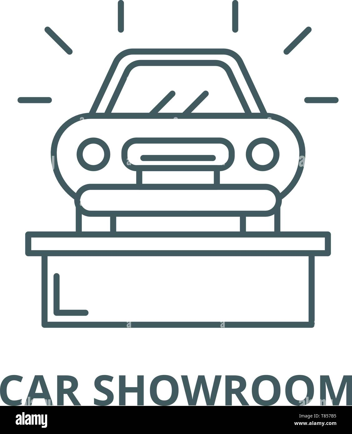 Fine Car Showroom Vector Line Icon Linear Concept Outline Sign Download Free Architecture Designs Scobabritishbridgeorg