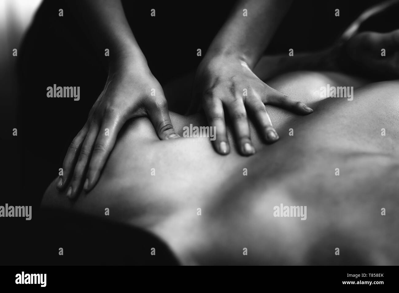 Shoulder massage - Stock Image