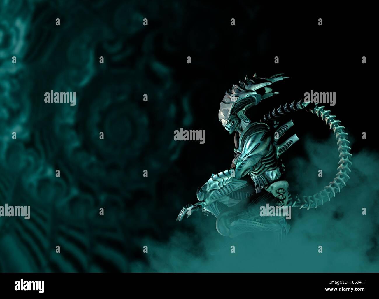 Alien, illustration - Stock Image