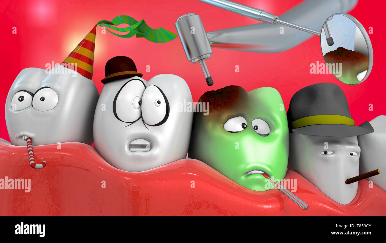 Dentistry, conceptual illustration - Stock Image