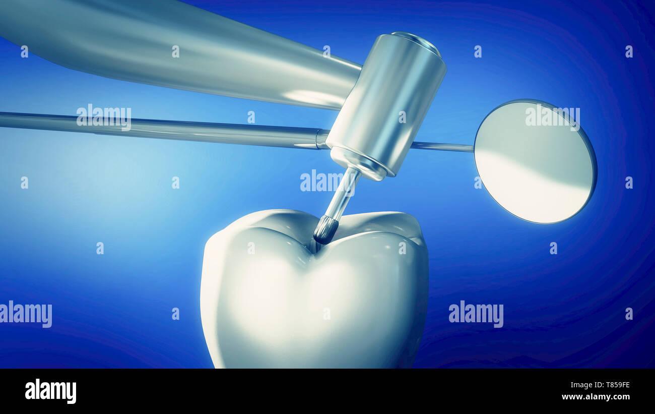 Dentistry, illustration - Stock Image
